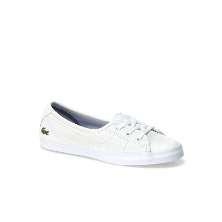 Ziane Chunky Lace Up Ballerinas In Leather Lacoste Shoes Shoes Lace Up