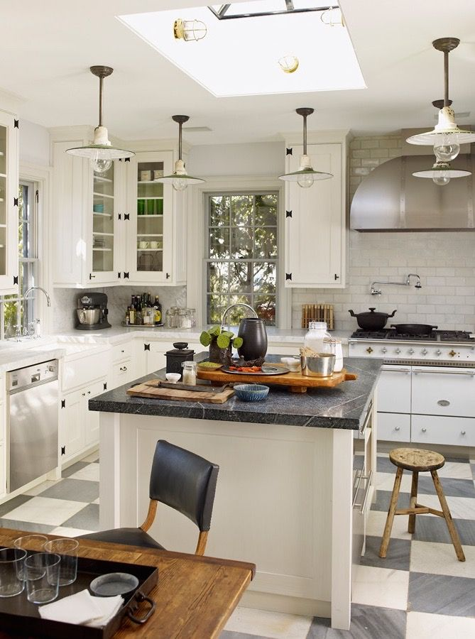 Room of the day great design in cabinets island lighting skylight floor would love to cook in this kitchen by steven gambrel