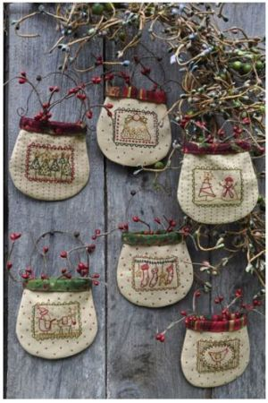 Christmas Stamp Pockets by Anni Downs of Hatched & Patched