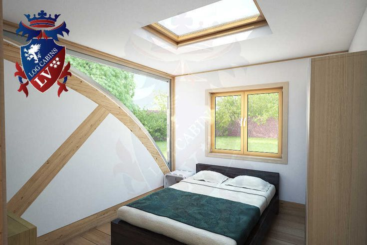 Residential Timber Frame Glulam Insulated Park Home by www.logcabins.lv (9)