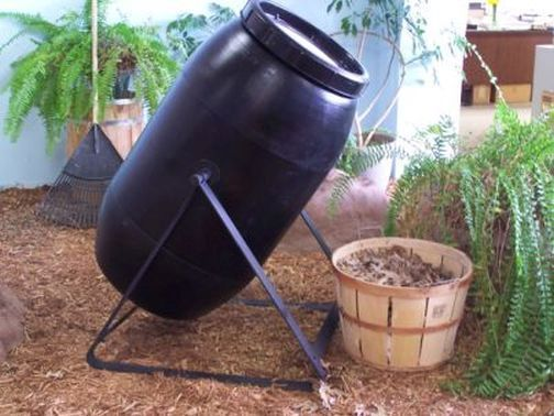 Composter Tumbling Composter Single 60 Gal Black Plastic Durable! FREE SHIPPING #AuntMollysBarrels
