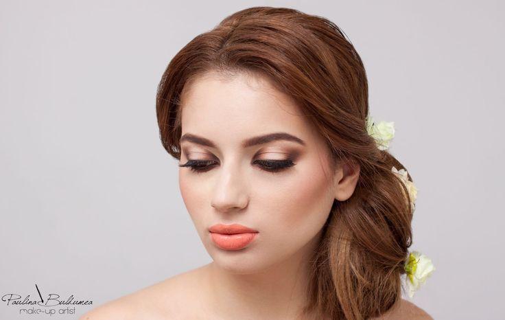 Bridal make-up, nude tones, wedding make-up ideas. #bridalmakeup #weddingmakeup  #bride #ideasforyourwedding Make-up artist: Paulina Buldumea