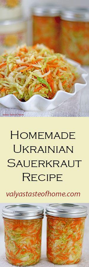 http://valyastasteofhome.com/homemade-ukrainian-sauerkraut-recipe                                                                                                                                                      Más