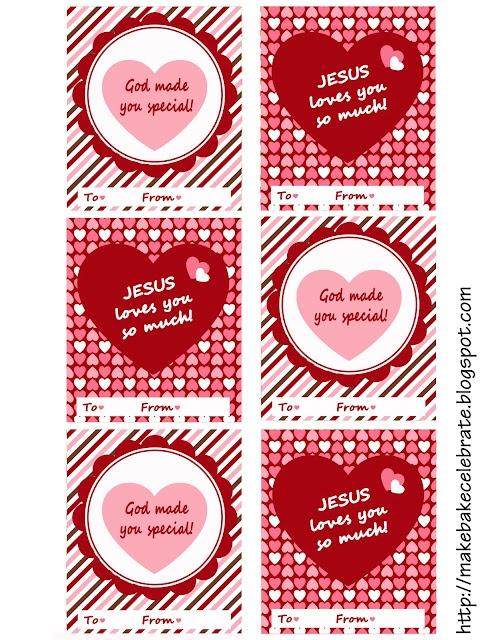 Valentine Printables for Sunday School kids