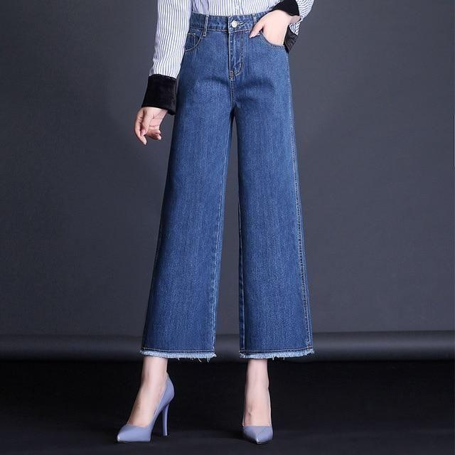 Pantalones Vaqueros Para Mujer Pantalones Retro Holgados De Cintura Alta Pantalones Anchos Para Mujer Pantalone Fashion Pants Wide Leg Denim Casual Denim Jeans