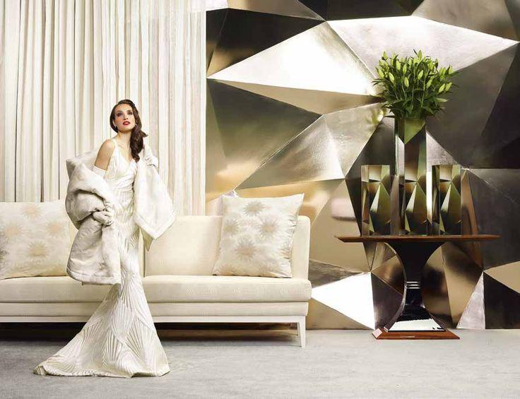 JAB Fabric Desire by Grandezza Diva l Art Deco Trend 1920's | TM Interiors Limited