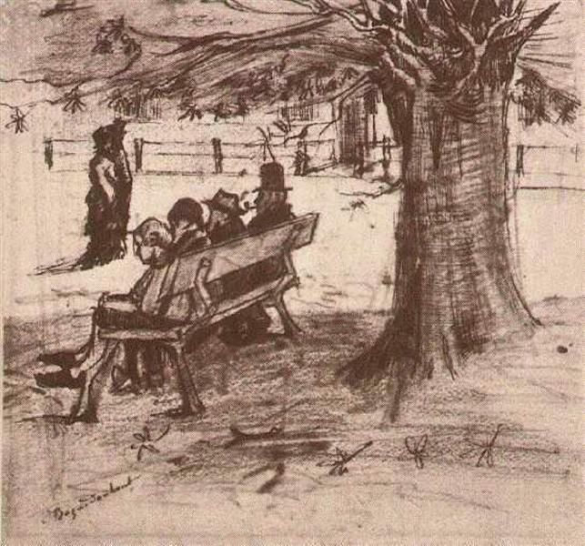 Bench with Four Persons (1882) Vincent van Gogh