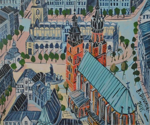ArtGalery ° PERSONALART.PL tytuł/title: Kraków autor: Edward Dwurnik personalart.pl/Edward-Dwurnik