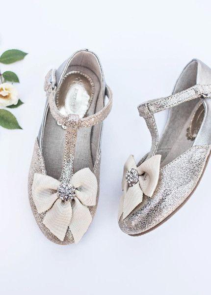 Designer childrens shoes by Joyfolie Gemma in Silver Shoes for girls in New Zealand   Return To Eden Children's Boutique