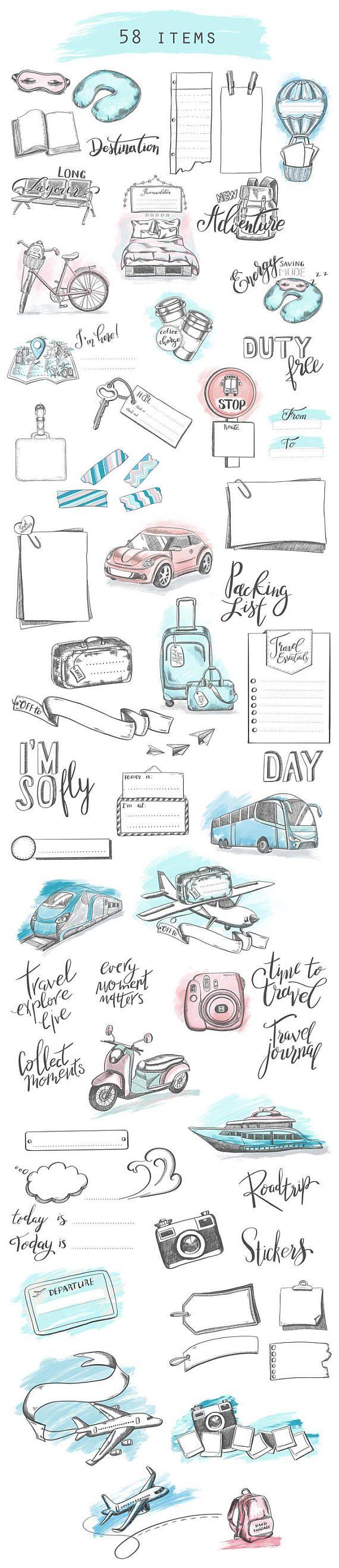 Bullet Journal / Planner Tavel Inserts, USA, Trip Ideas, Global, Trip Planner / Full letter / Half letter / Happy Planner / Personal