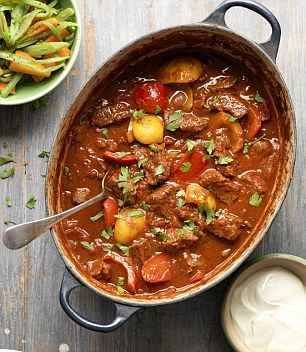 Best ever beef goulash is only 352 calories per serving. - Use Fry light not oil and it's free