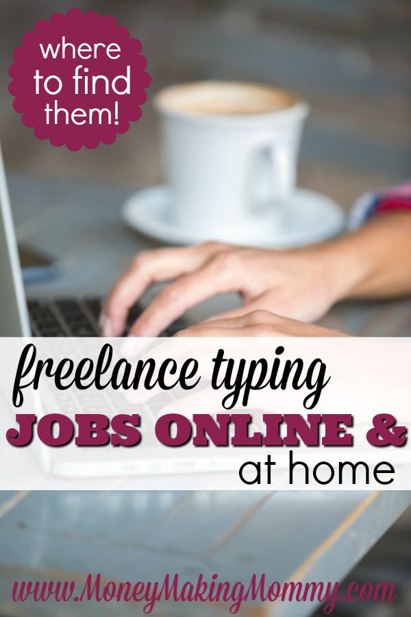 Having the typing skills to pay the bills? But you just need the job to do so? Find out where to hunt for freelance typing work or even full time typing employment. The jobs are out there -- and here's where to look! MoneyMakingMommy.com