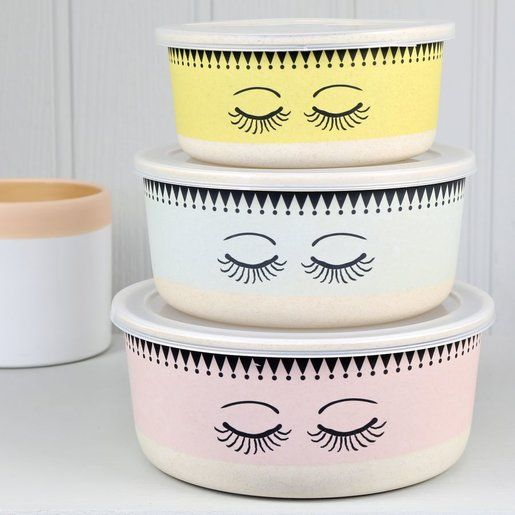 Set of 3 Food Storage Containers in Pastel