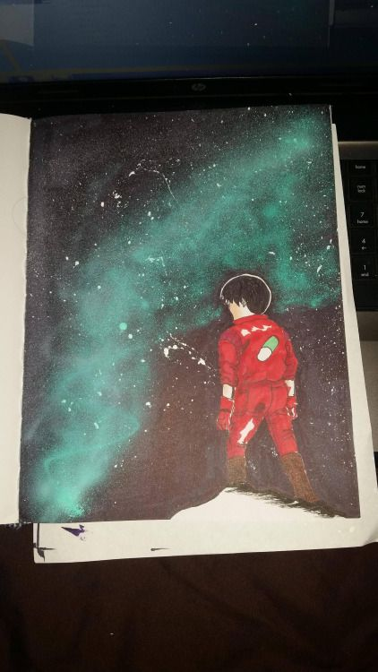 Watched Akira and borrowed an airbrush machine. Felt inspired....
