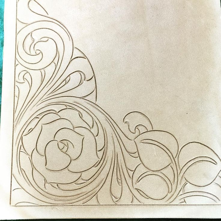 Rose leaves leather working ideas pinterest and pattern