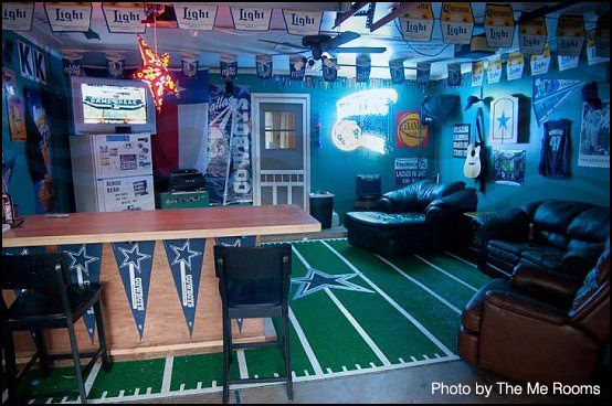 Sort of a dated Dallas Cowboy man cave  but it s awesome nonetheless    DallasCowboys  mancave   Man Caves   Pinterest   Cowboys men  Men cave and  Cowboys. Sort of a dated Dallas Cowboy man cave  but it s awesome