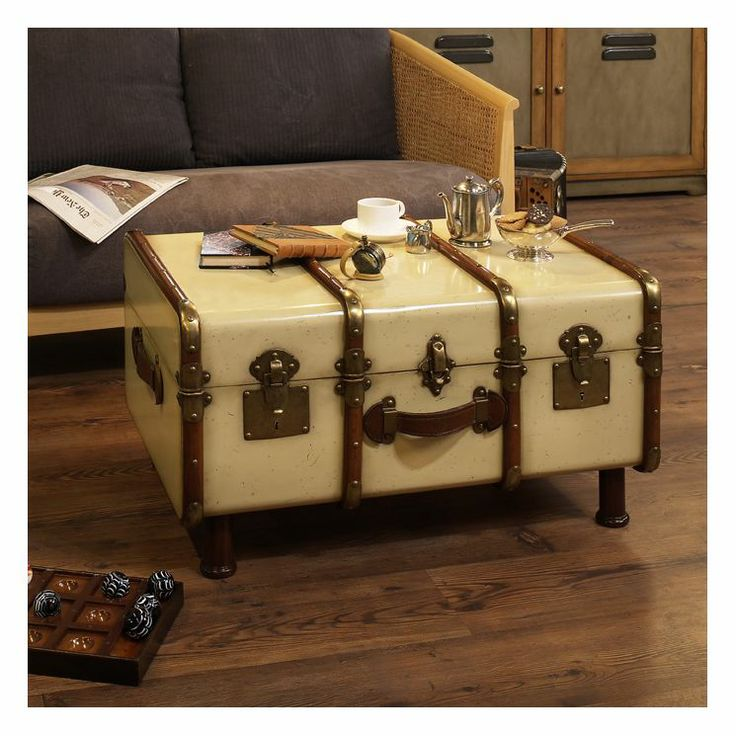 336 best re scape luggage suitcases and trunks images on pinterest luggage bags repurposed Old trunks as coffee tables