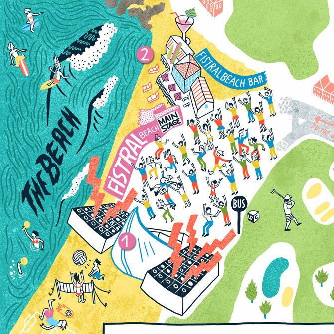 Beach Break Live 2013 - • Antoine Corbineau • Illustration, Art & Design •