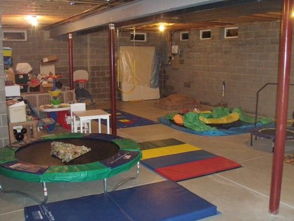 17 best ideas about unfinished basement playroom on for Fitness 19 kids room