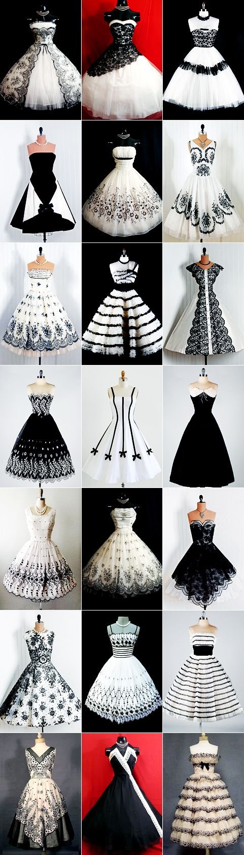 Love all of these -50s prom black and white