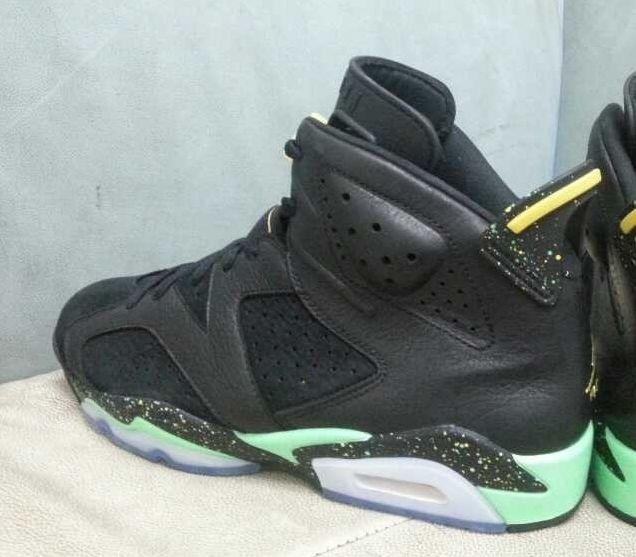 buy popular d9bb7 c00de ... Air Jordan 6 Retro Black Venom Green Detailed Pictures  For ...