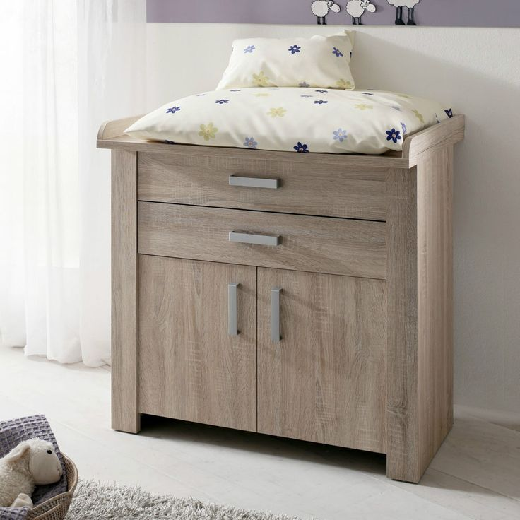 Baby Changing Table Unit Wood Wooden Drawers Cabinet Storage Child Nursery Care