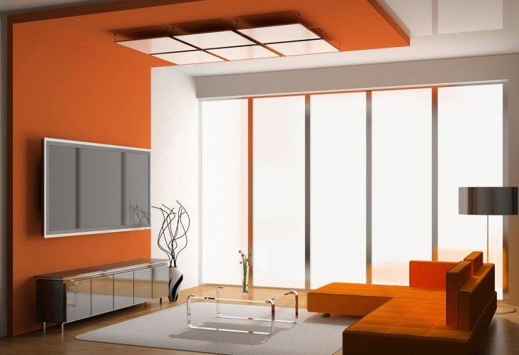 Kitchen Orange Paint Shading Lounge