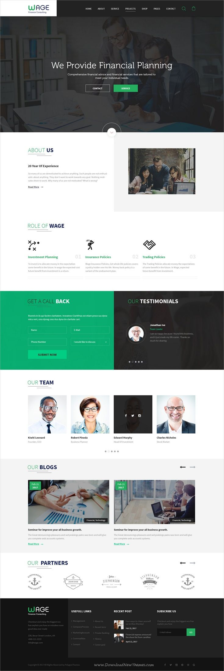 Wage is a professional and flexible #PSD template for #financial, business or #investment companies website with 40 organized PSD pages download now➩ https://themeforest.net/item/wage-business-and-finance-psd-template/19428278?ref=Datasata