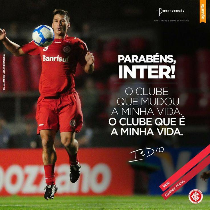 Homenagem do zagueiro ÍNDIO nos 105 anos do Sport Club Internacional. Lindo  demais!