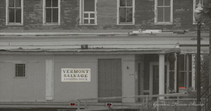 Vermont Salvage Vintage Buildingin White River Junction  #vermont