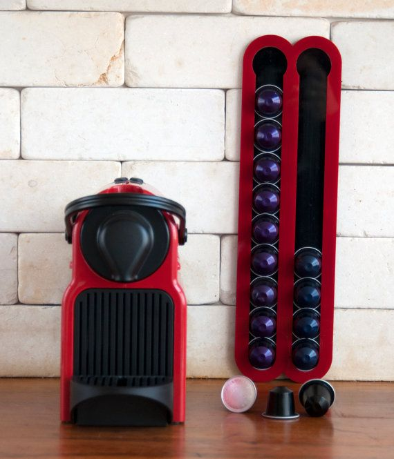 red coffee capsules holder holds 20 nespresso pods kitchen storage magnetic coffee nespresso pod stand kitchen