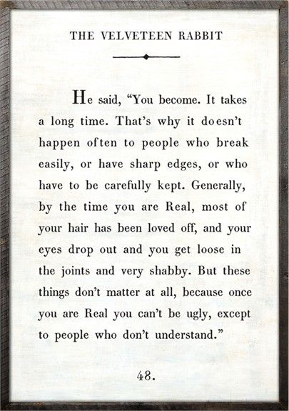 Rosenberry Rooms is offering a 10% discount on your purchase of $350 or more.  Share the news and take advantage of the savings! Velveteen Rabbit Quote Vintage Framed Art Print #rosenberryrooms