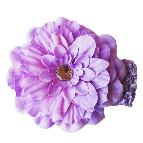 Purple Peony Flower Headband