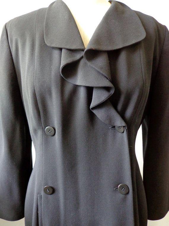 Vintage Dress by Giorgio Armani Black New Wool by PurposeFashion, $65.00