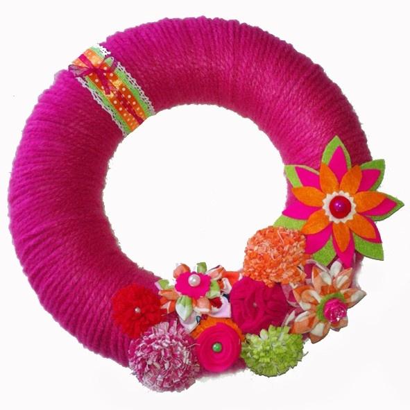 Krans met bloemen | Kransen | TES creaties