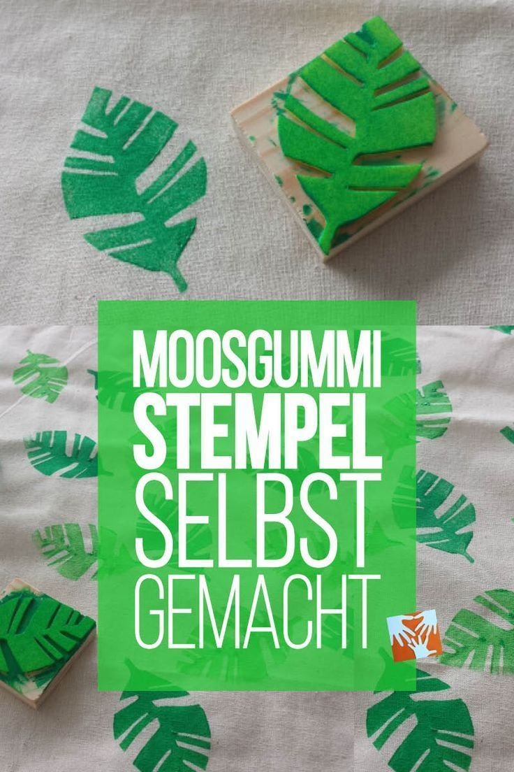 Basteln mit Kindern | DIY: selbstgemachte Stempel aus Moosgummi - unkompliziert und kinderleicht | Muttis Nähkästchen