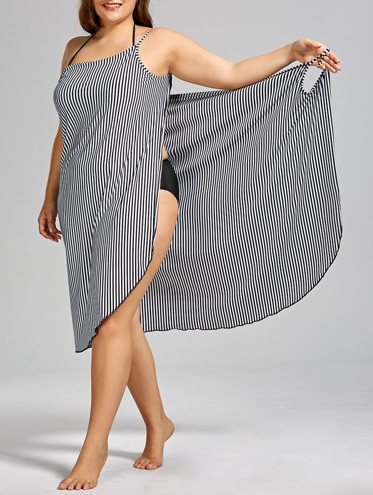 SHARE & Get it FREE | Stripe Plus Size Cover-upFor Fashion Lovers only:80,000+ I...