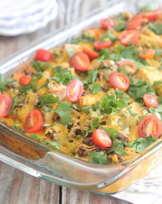 Overnight Mexican Breakfast Casserole from @jennyflake