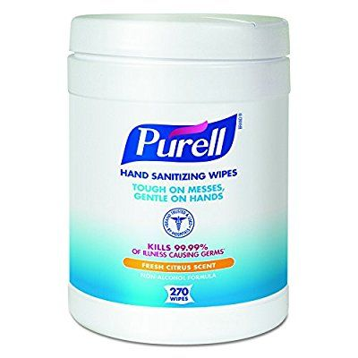 PURELL 911306CT Sanitizing Hand Wipes, 6 x 6 3/4, White, 270 Per Canister (Case of 6 Canisters): Amazon.ca: Tools & Home Improvement