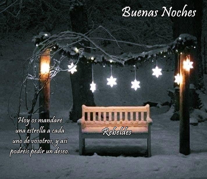 Buenas Noches Luces De Navidad Navidad Noche