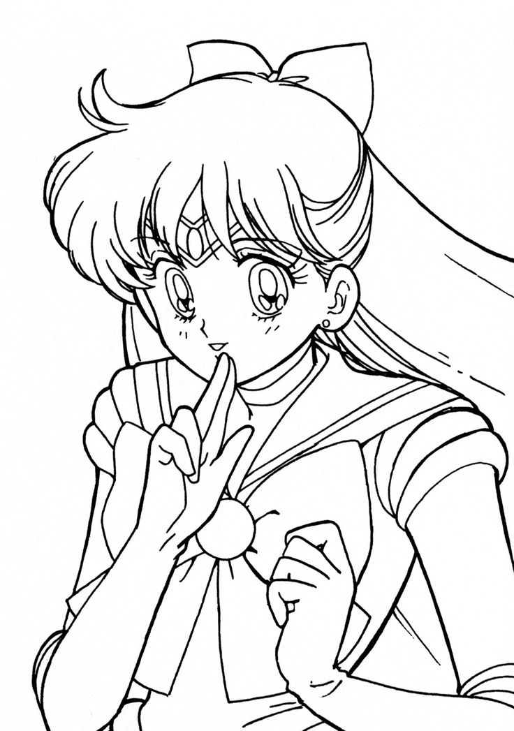 Venus Coloring Pages. Aino Minako Coloring Page // #sailormoon ...