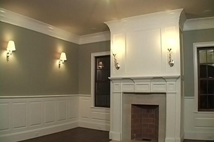 Crown molding / fire place: Diy Ideas, Decor Ideas, Frame, House Ideas, Crowns, Crown Moldings, Diy Decor, Fireplace, Room