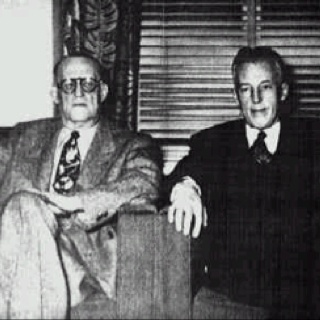 Dr. Bob and Bill W. Founders of Fellowship of Alcohol Anonymous (founded June
