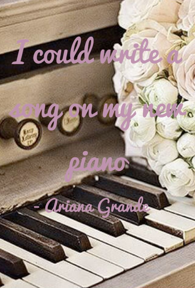 Lyric ariana grande piano lyrics : 22 best Yours Truly and Christmas Kisses Photo Collages Inspired ...