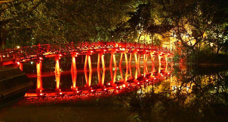 Bridge to Ngoc Son Temple in Hanoi. #bridge #ngocson #hanoi #vietnam #travel