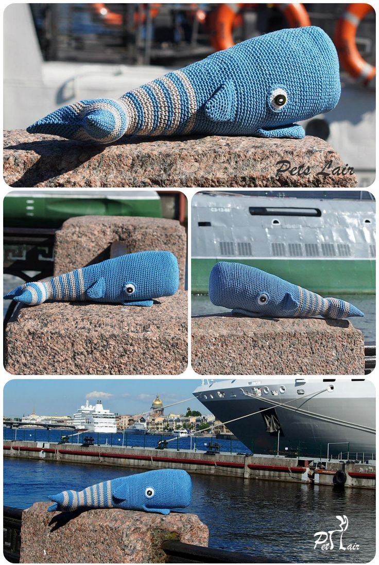 #Small #Whale #pattern, Pattern Includes English, German #PDF, #Stuffed #Animal, #striped whale, #blue, #knitted toy, #soft toys, #baby #gift, #cute #toy #Amigurumi #crochet toy pattern
