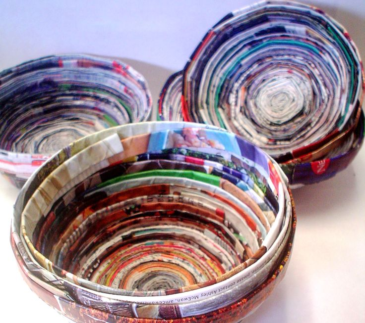 Lessons from the K-12 Art Room: Recycled Magazine Bowls