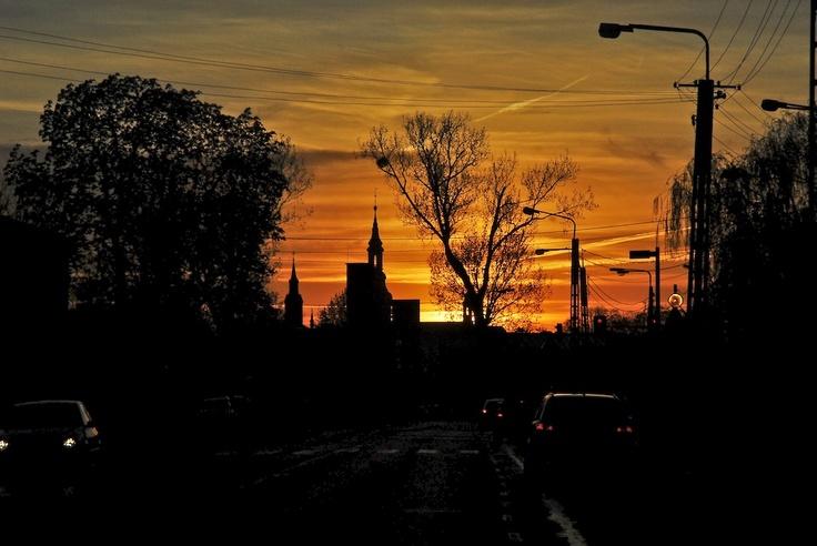 Kalisz, Poland sunset