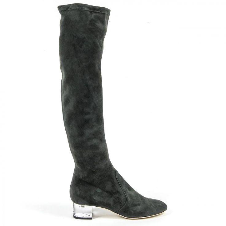 V 1969 Italia Womens High Boot 3123667 CAMOSCIO VERDE FERMO