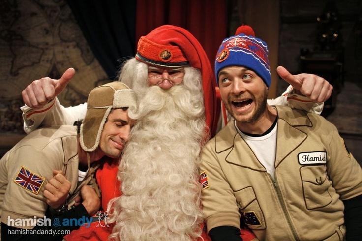 Andy & Hamish meeting Santa